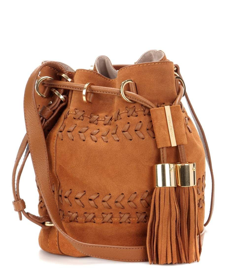 564fbfc2badbb see by chloe jacket, See By Chloé Vicki Small Suede And Leather Bucket Bag  Passito Brown Women,see by chloe handbags, see by chloe for sale Outlet  Store