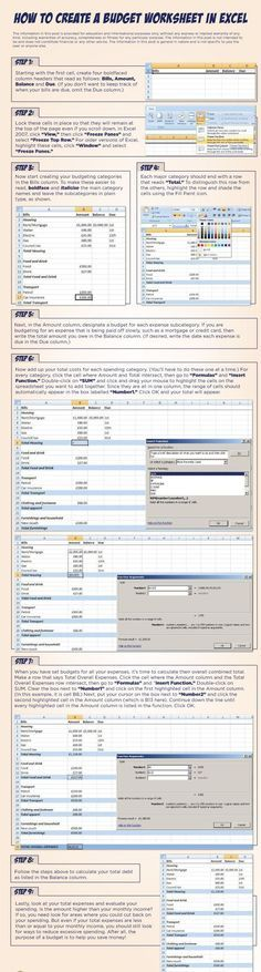 Learn how to create a budget worksheet in Excel step by step - budget spreadsheet excel download