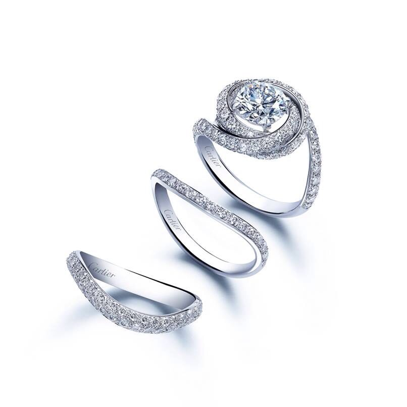 Cartier Trinity Wedding Ring: Trinity Ruban. A Collection Comprising Both