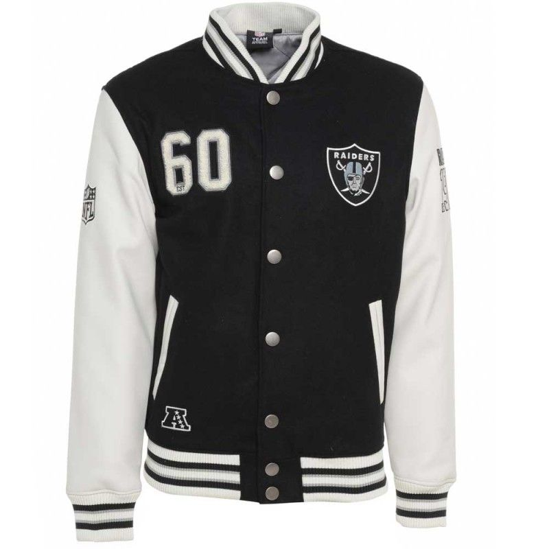f47b8386 Majestic NFL Oakland Raiders Varsity Jacket £109.99 | ~All About ...
