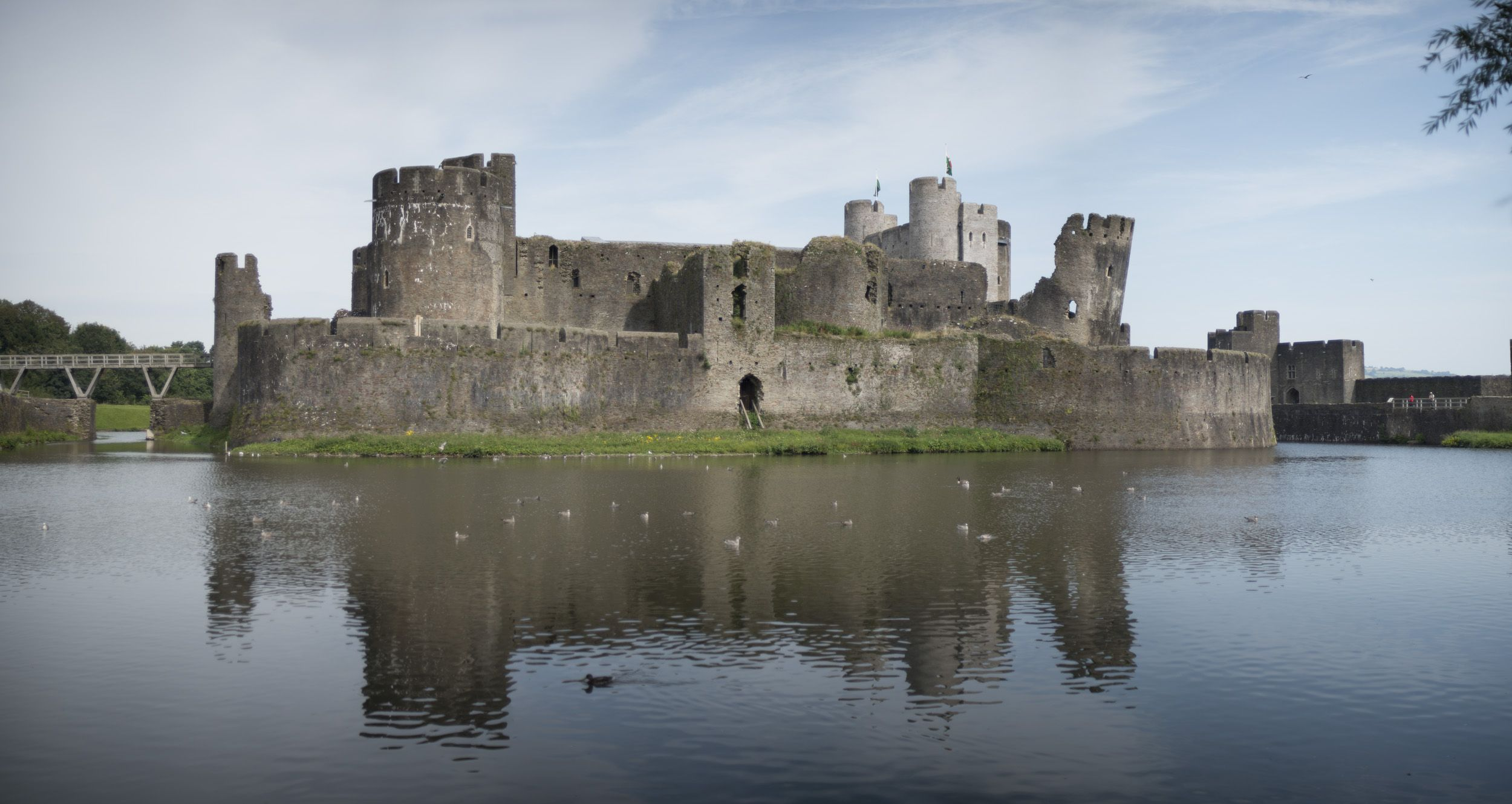 Caerphilly Castle Panorama