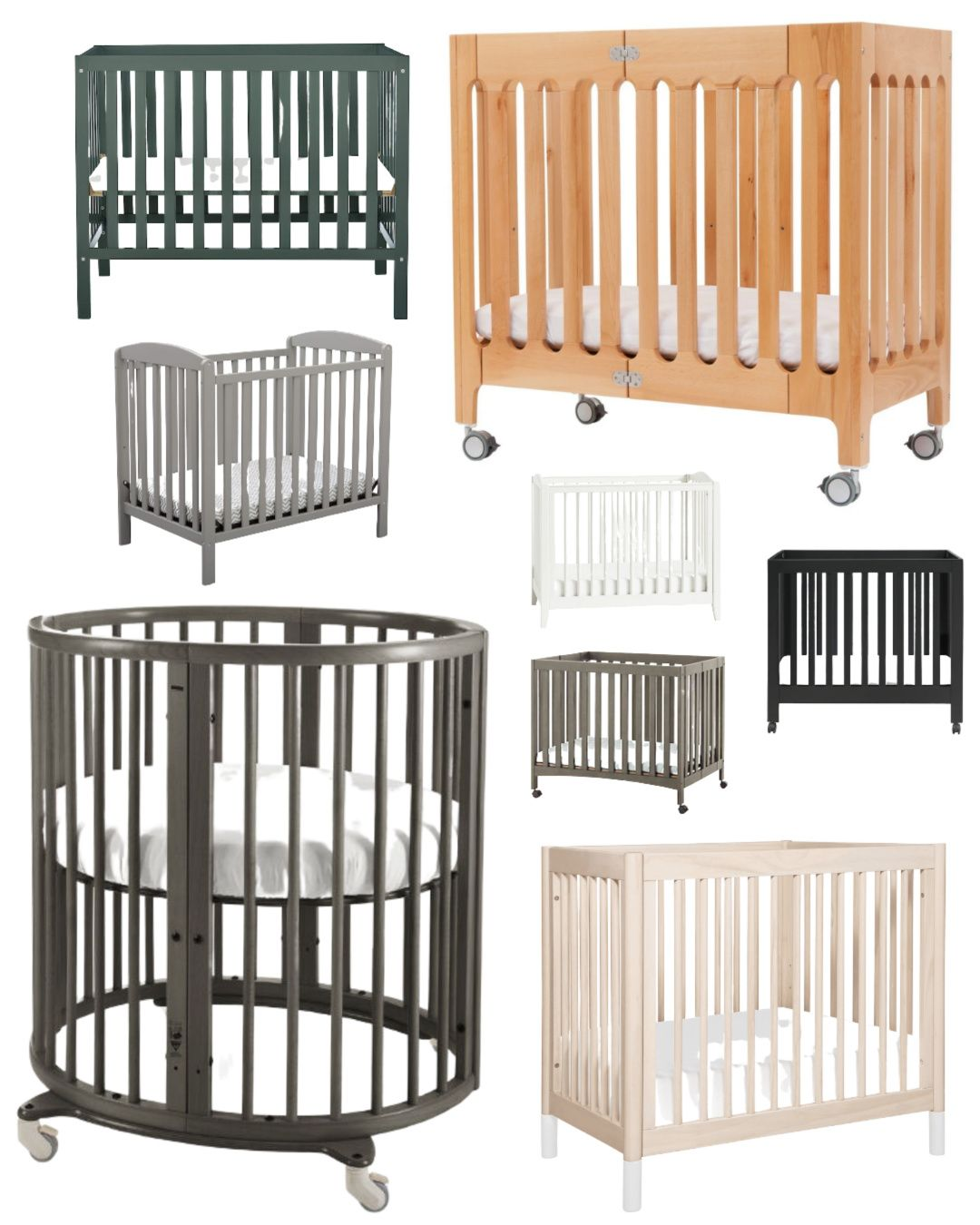 Best Mini Cribs For Small Spaces Best Small Cribs Raise Magazine Cribs For Small Spaces Cribs Mini Crib