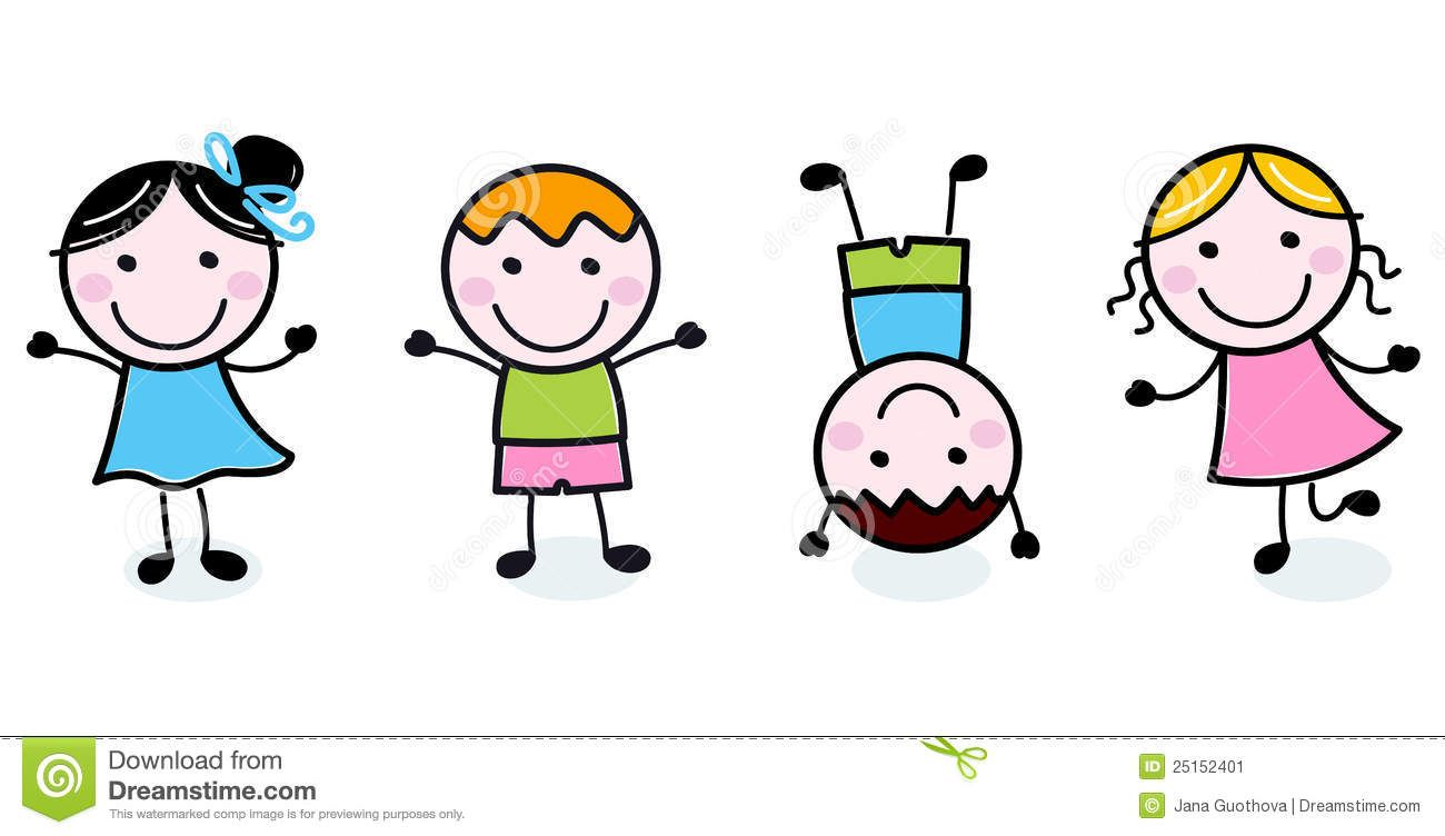 happy kids clipart black and white | clipart panda - free clipart