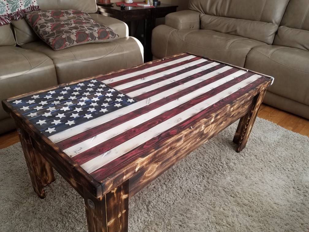 Old Glory Sliding Top Coffee Table Coffee Table Pallet Patio
