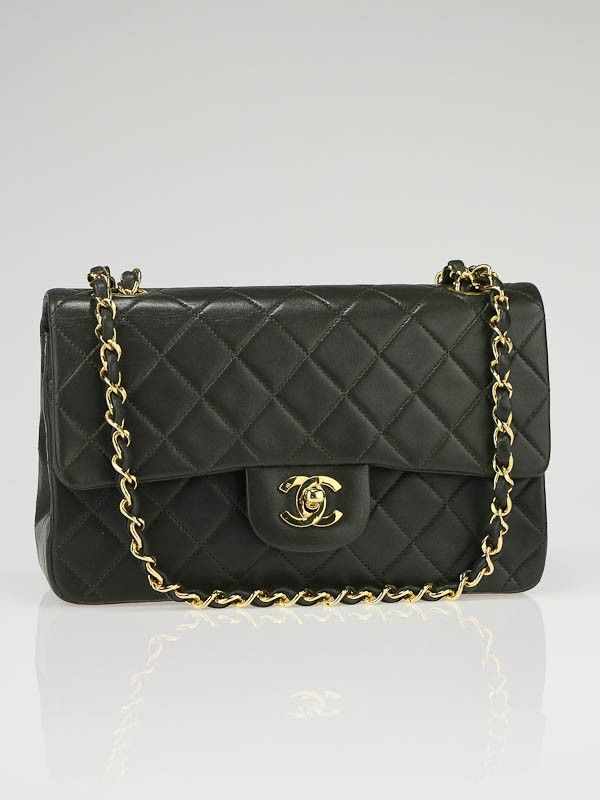 988d10c43ebb chanel olive green classic flap bag lambskin small | I love Chanel ...