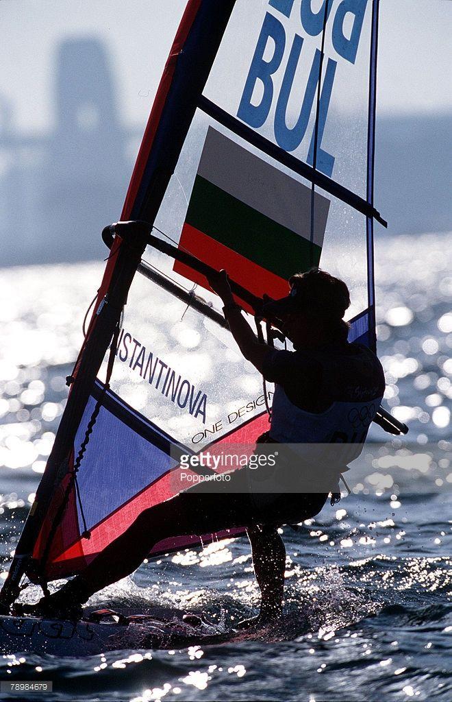 Olympic Games, Sydney, Australia, Women's Mistral sailing class, 21st September, 2000, Irina Konstantinova of Bulgaria in action