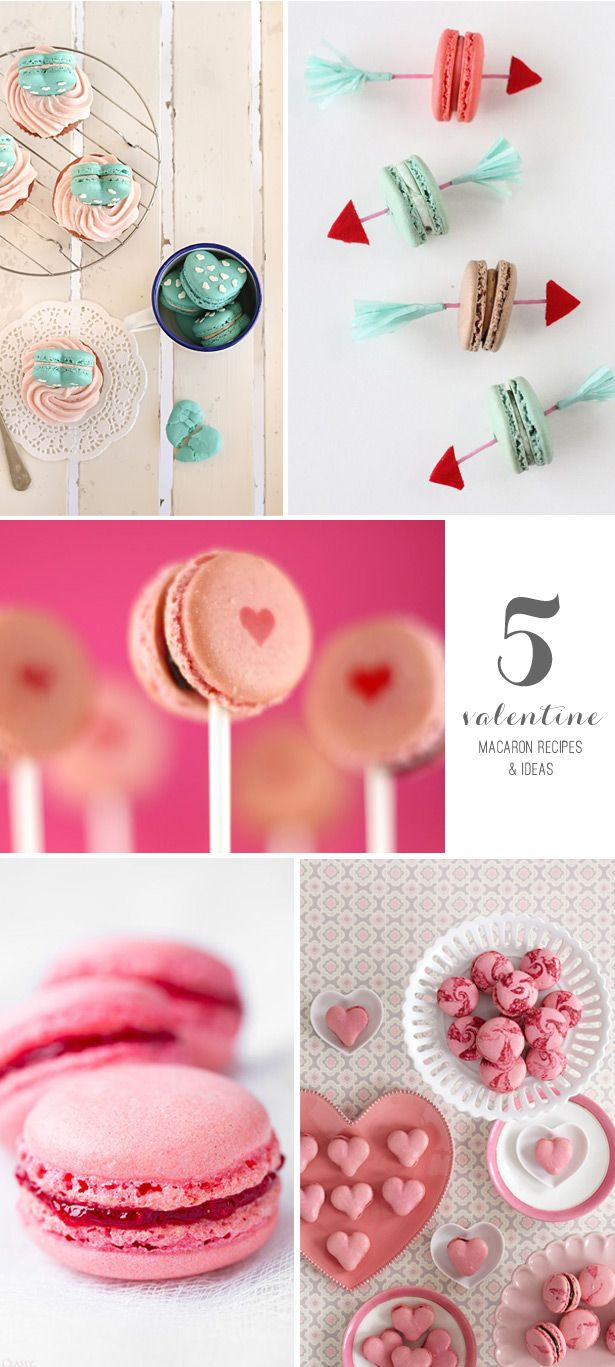 5 Valentine's Day Macaron Recipes & Ideas #valentinesday #funfood