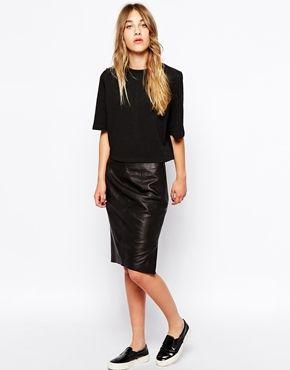 Esprit Leather Skirt