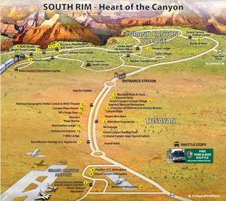 grand canyon village map LETS GO WEST Pinterest Grand canyon