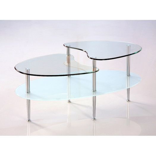Home Loft Concepts Glass Oval Coffee Table Coffee Table Oval