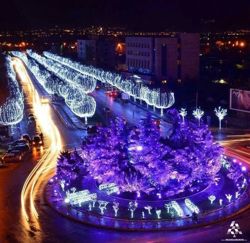 Places To Travel In December 2015: Christmas In Zahle Lebanon (December 2015)