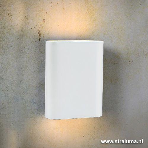 Ovalis wandlamp wit design slaapkamer - www.straluma.nl ...