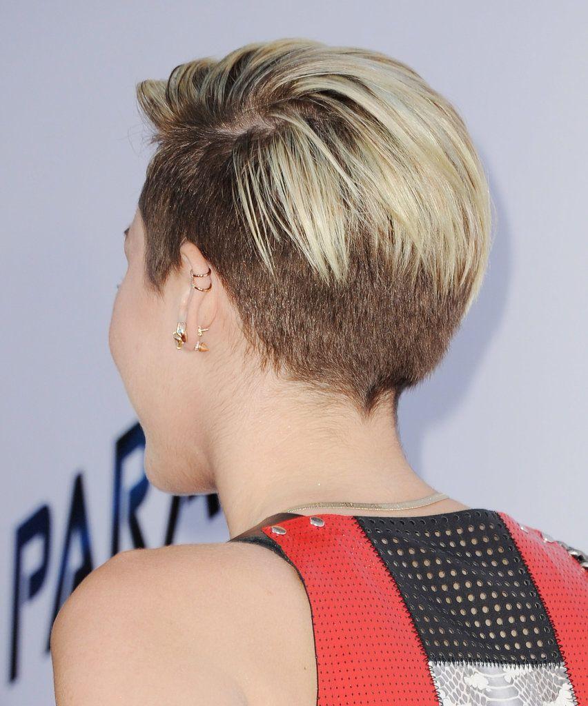 Miley Cyrus Undercut Back View Short Hair Styles Miley Cyrus Short Hair Miley Cyrus Hair