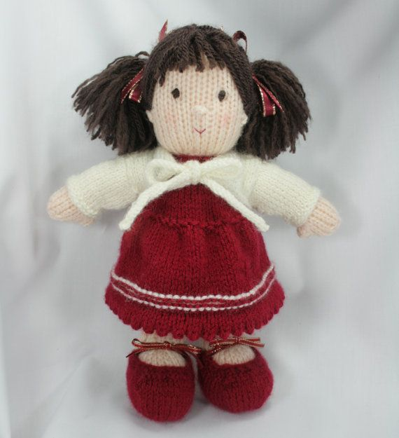 Hand Knitted Toys : Miranda — hand knitted doll knit and crochet for kids