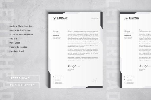 Simple Letterhead Template Elegant Letterhead Layout Design