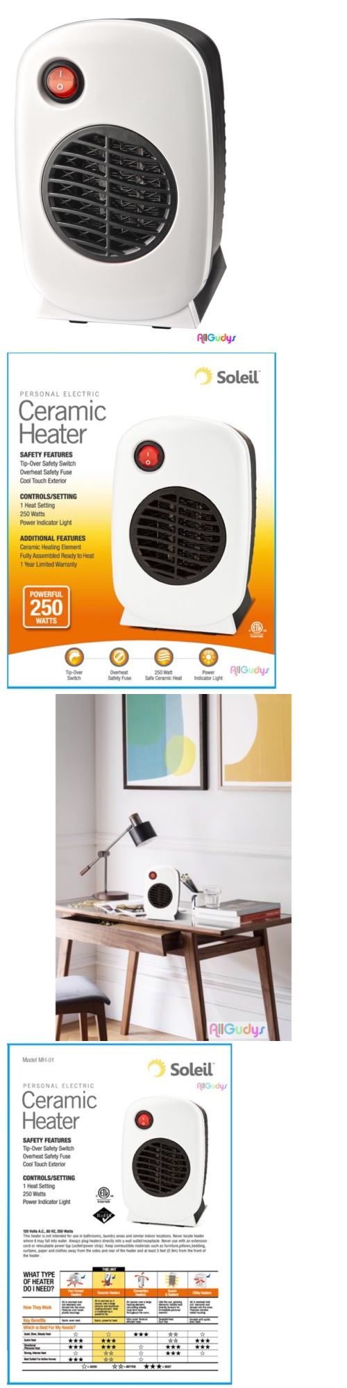 New Ceramic Heater Personal Portable Soleil Electric Space Heater Small White Ebay Ceramic Heater Small Heater New Ceramics