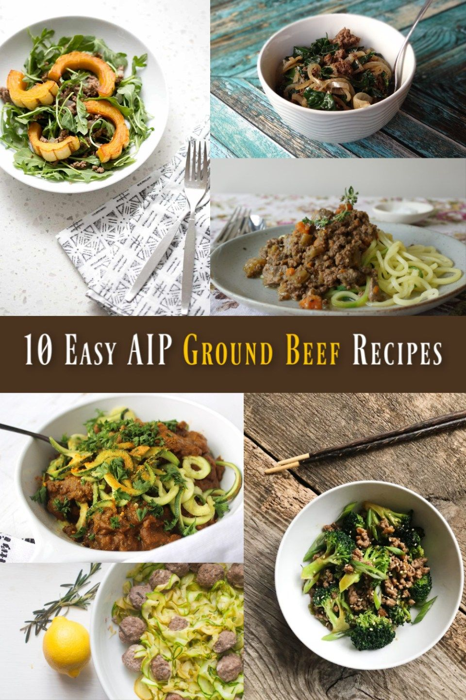 10 More Easy Aip Ground Beef Recipes Ground Beef Recipes Beef Recipes Food Recipes