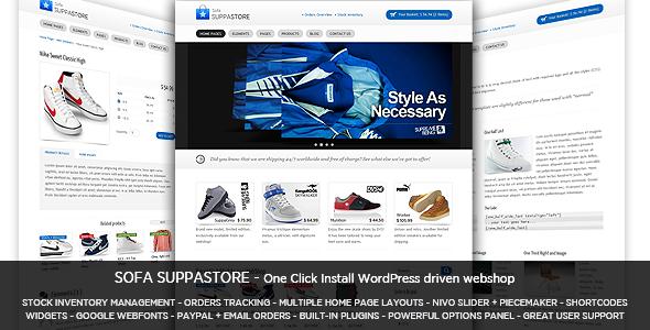 Sofa SuppaStore - WordPress driven webshop   Premium Themes ...