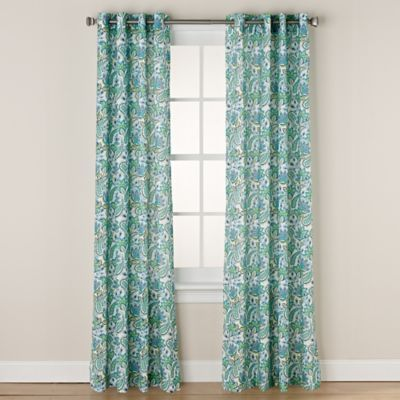 Buy Chloe Print 63 Inch Grommet Window Curtain Panel In Coral From Bed Bath