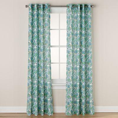 Marvelous Buy Chloe Print 63 Inch Grommet Window Curtain Panel In Coral From Bed Bath  U0026