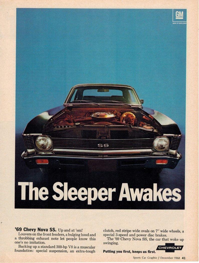 Metal Sign Vintage Look Reproduction 2 1969 Chevrolet Corvette