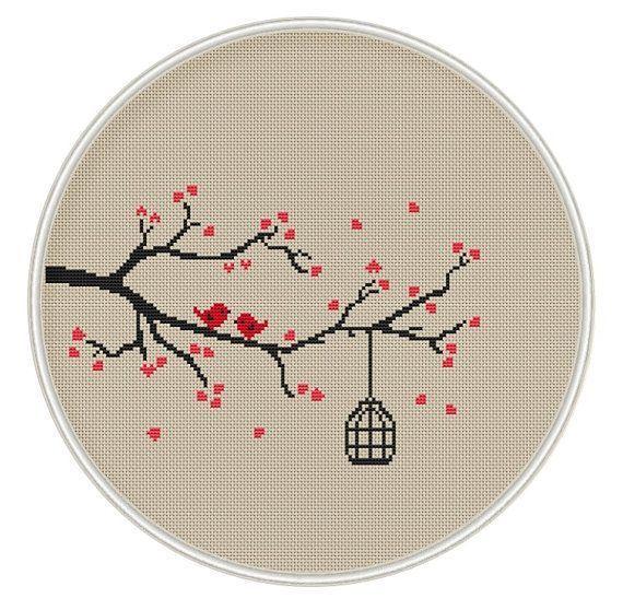 Love bird Сross stitch pattern by MagicCrossStitch on Etsy - Ziyaret Edilecek Yerler - Love bird