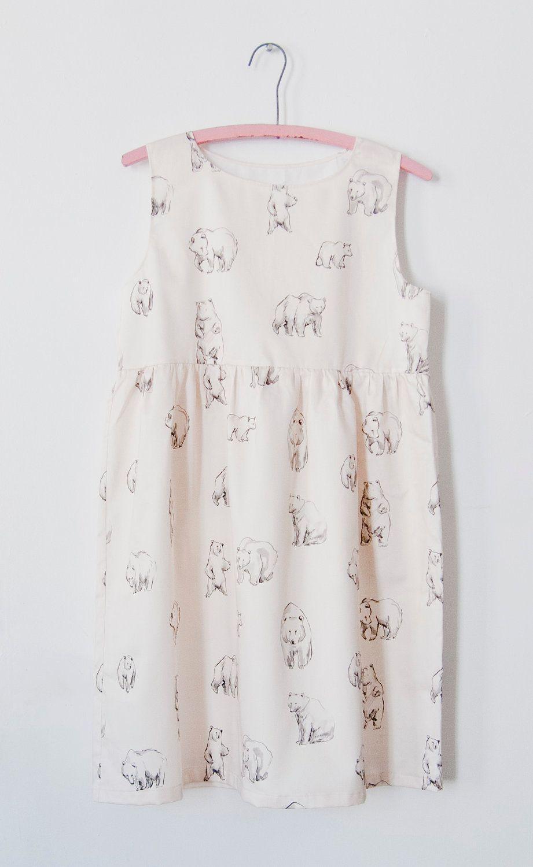 /// bear print dress $186