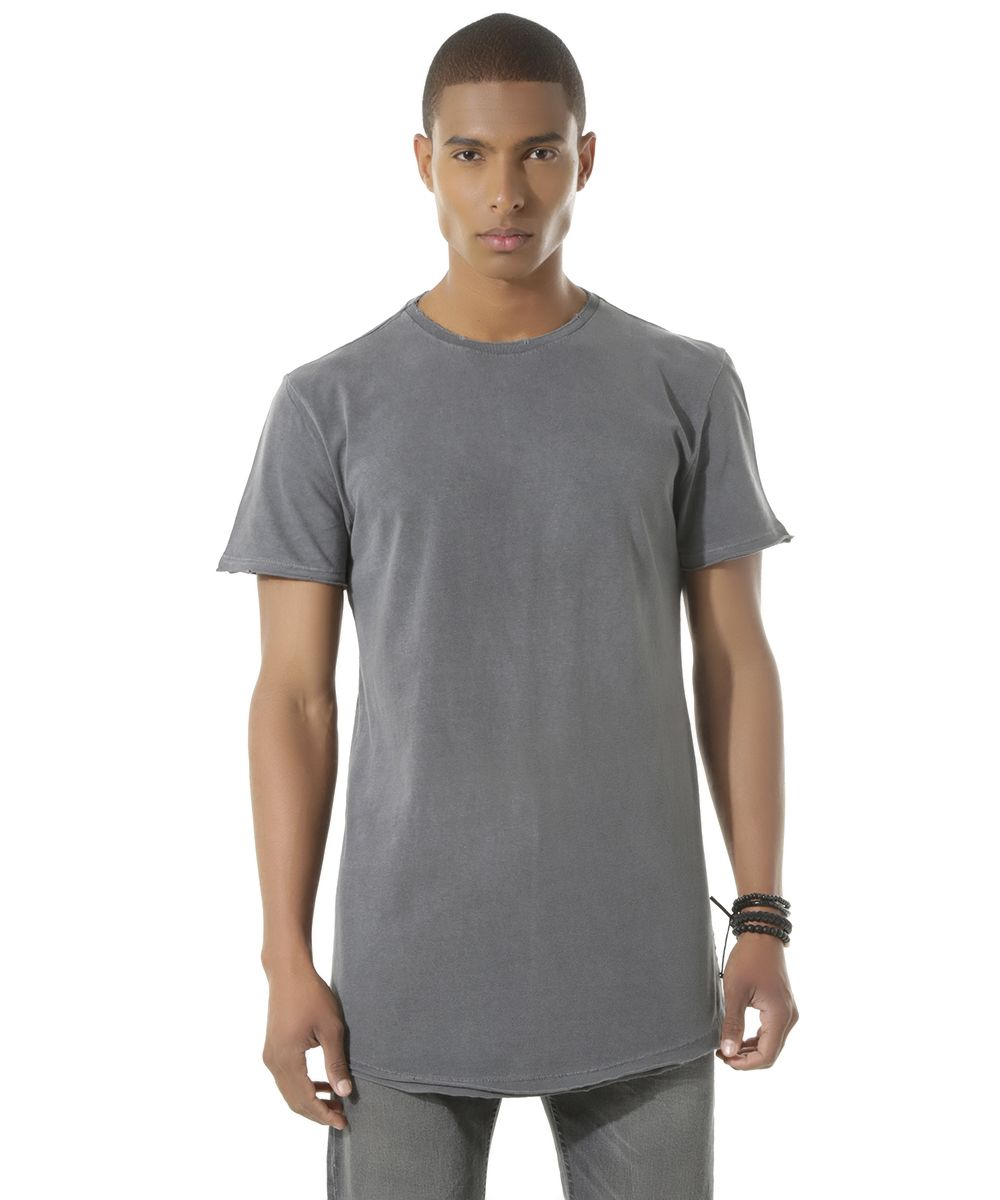 Camiseta Longa Cinza - cea