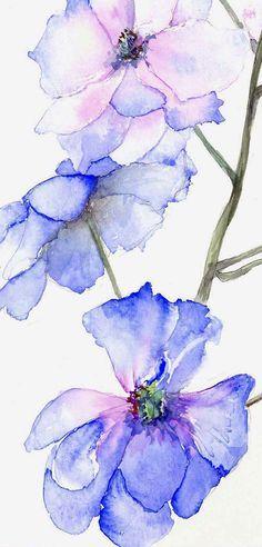 Beauty Flowers In Watercolour Paintings By Russian Artist Elena