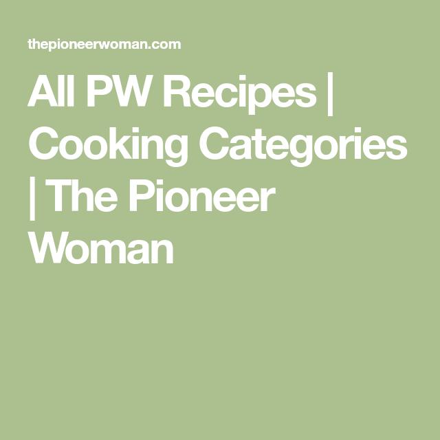 Cooking Categories
