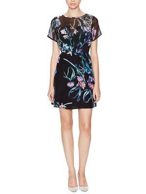 Date Silk Floral Print  Dress