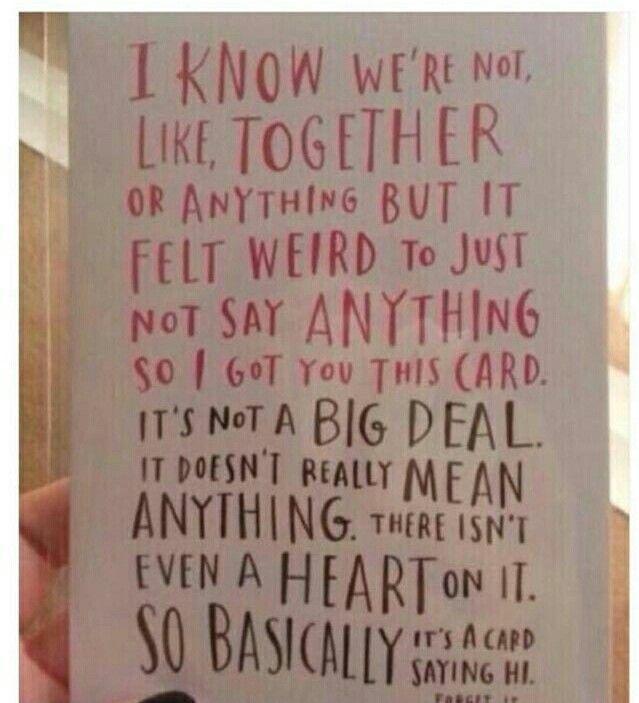 Valentines Day Card I Gave To My Crush Sad Girl Pinterest Sad Girl