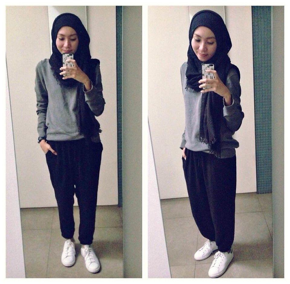 Syaifiena W lookbook.nu/syaifiena ootd. casual hijab outfit minimalist hijab  outfit,