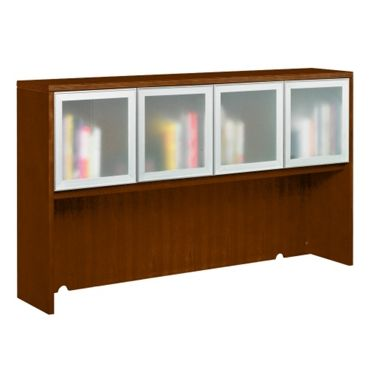 Fairbanks Four Door Hutch with Glass Doors - Contemporary Office Furniture   National Business Furniture