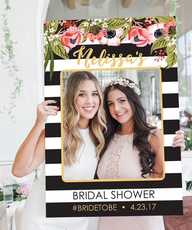 6208ca7bb423 Bridal Shower Photo Prop - Wedding Photo Prop - Black and Gold ...