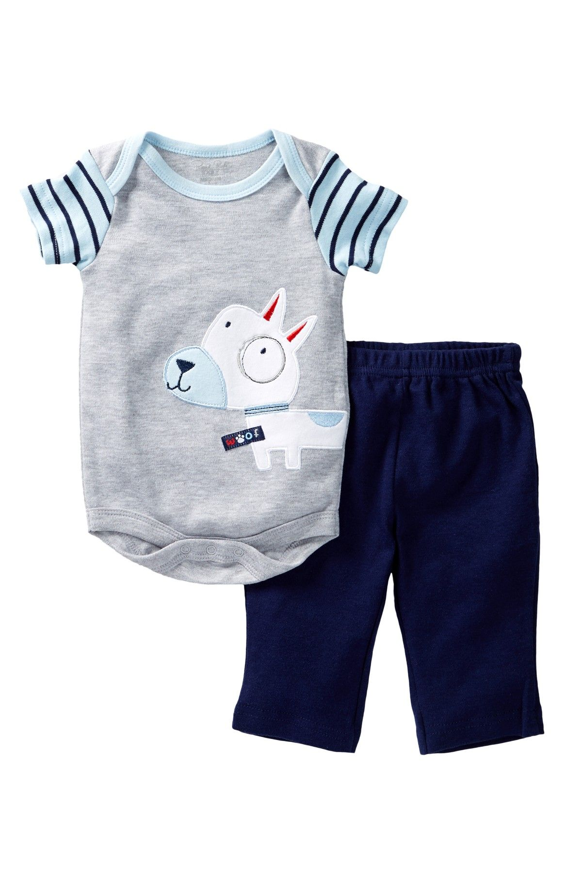 Rene Rofe Little Puppy Bodysuit & Pant Set Baby Boys