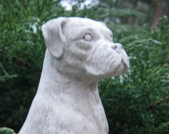 Wonderful Boxer Dog Concrete Statue, Cement Boxer Figure, Cast Stone Home And Garden  Statue Of