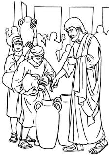 Dibujos Colorear Milagros De Jesus Bodas Cana Buscar Con