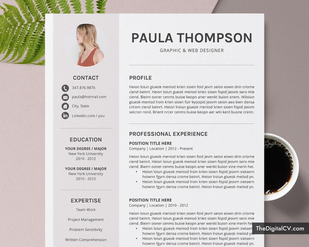 Modern Cv Template For Microsoft Word Simple Cv Template Design Clean Resume Creative Resume Professional Resume Job Resume Editable Resume Teacher Resum Resume Template Word Teacher Resume Template Cv Template