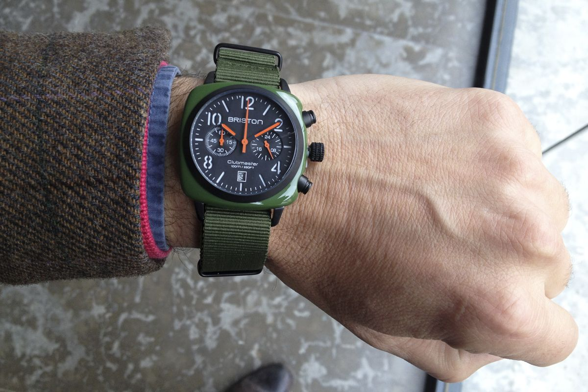 Reloj El Briston Un Clubmaster Chrono Green Deportivo Army Es Y 435ARjL