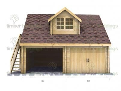 Double Storey Timber Garage 5 - 6m x 5m. Available in 70mm & Twinskin