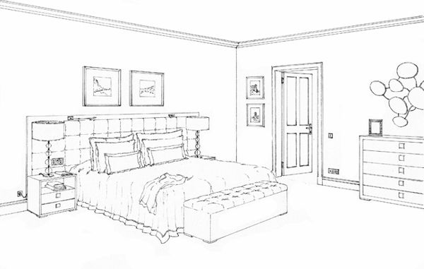 Image Result For Bedroom Drawing Bedroom Drawing Simple Bedroom