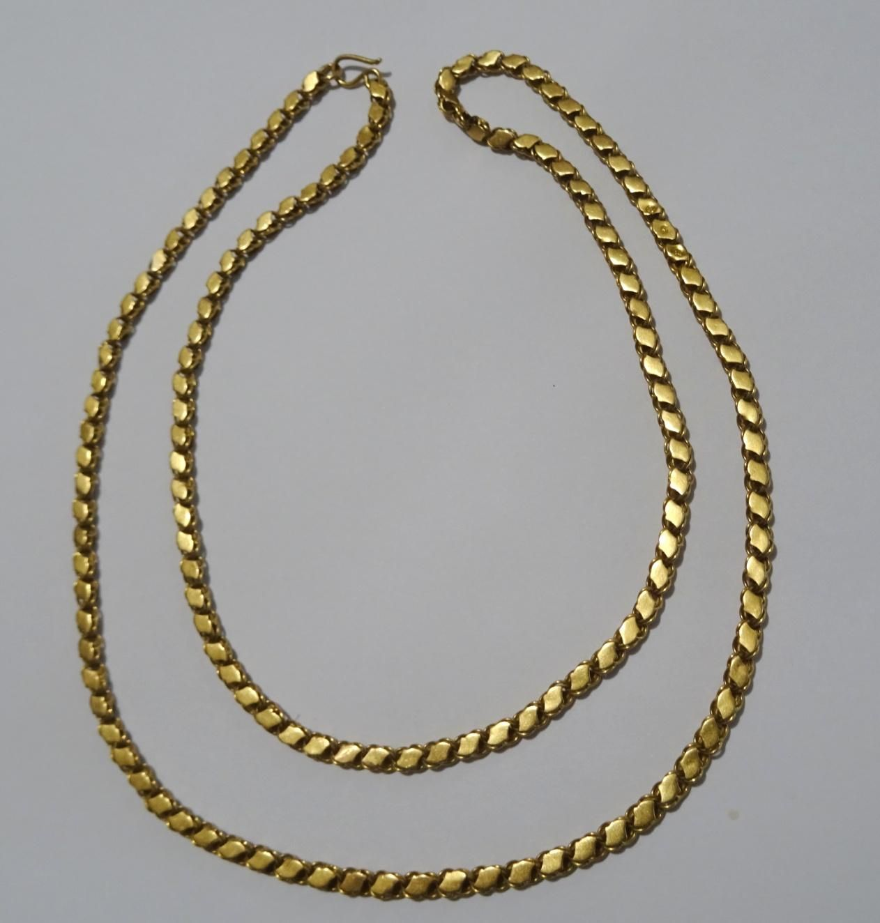 Traditional Vintage 21 Karat Gold Handmade Necklace From Allepo Haleb Syria Handmade Gold Necklace Necklace Handmade Necklaces