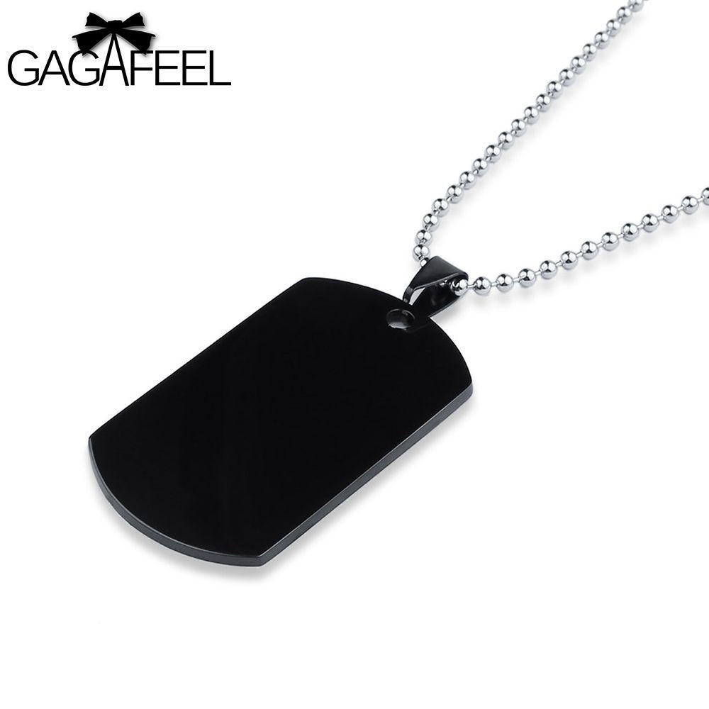 gagafeel personalizado grabado pareja amistad collar ID Tag Acero Inoxidable Colgante Amor Regalo 1IkBpCshIw