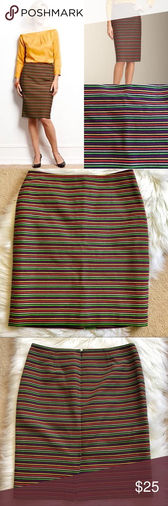 b3b302019f Talbots Rainbow Stripe Corded Pencil Skirt 12 Fun and beautiful. Talbots  Corded Rainbow Stripe Pencil