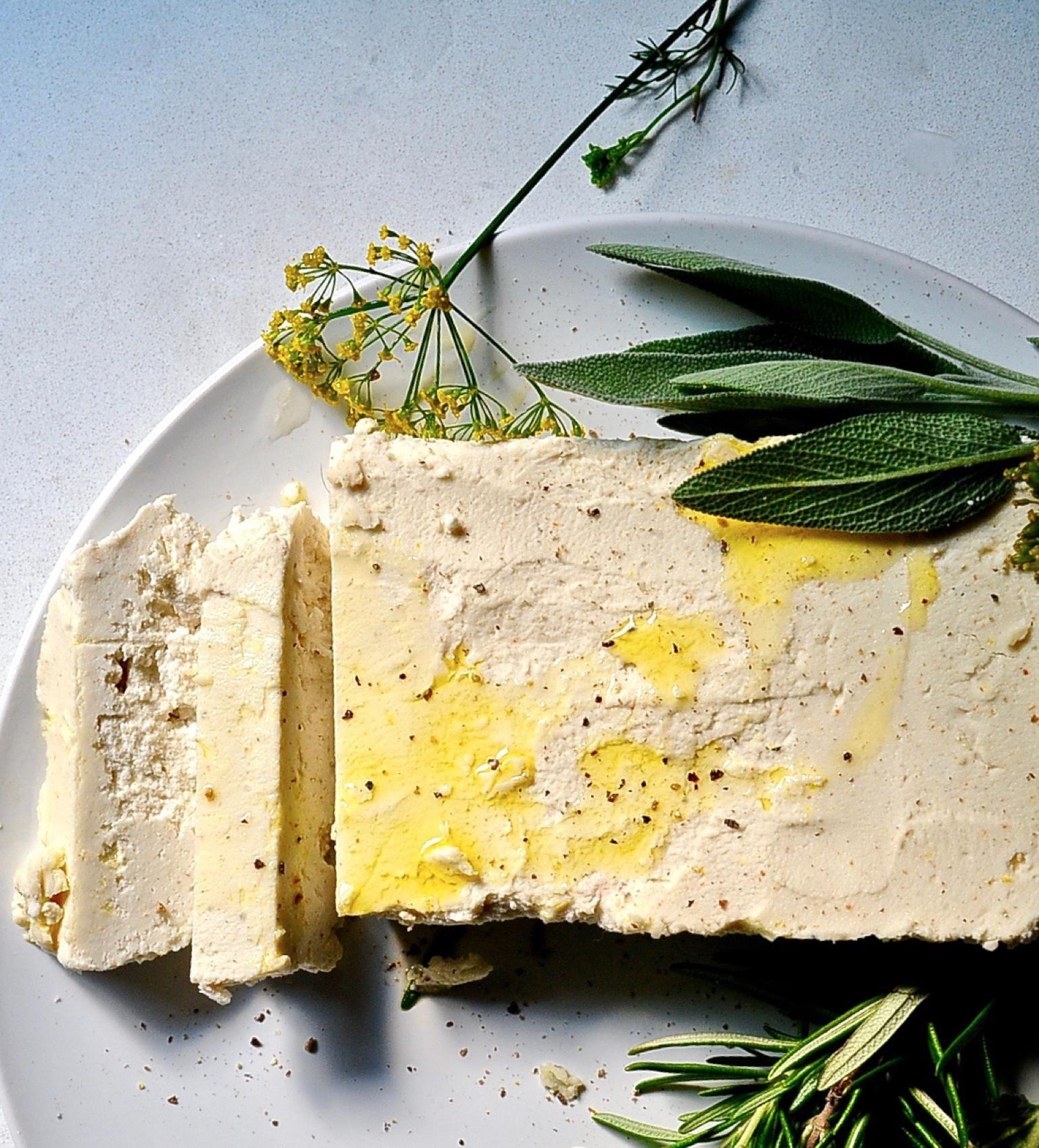 Herb Marinated Almond Feta Vegan Recipe Vegan Cheese Feta