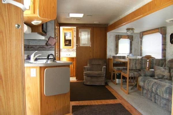 Sliding door in a travel trailer. Iu0027ve had this same idea. Only I want a rustic/western barn door looking sliding door to replace the regular door. & Sliding door in a travel trailer. Iu0027ve had this same idea. Only I ...