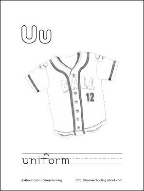 letter u coloring book free printable pages