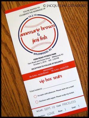 Phillies Baseball Ticket Invitation