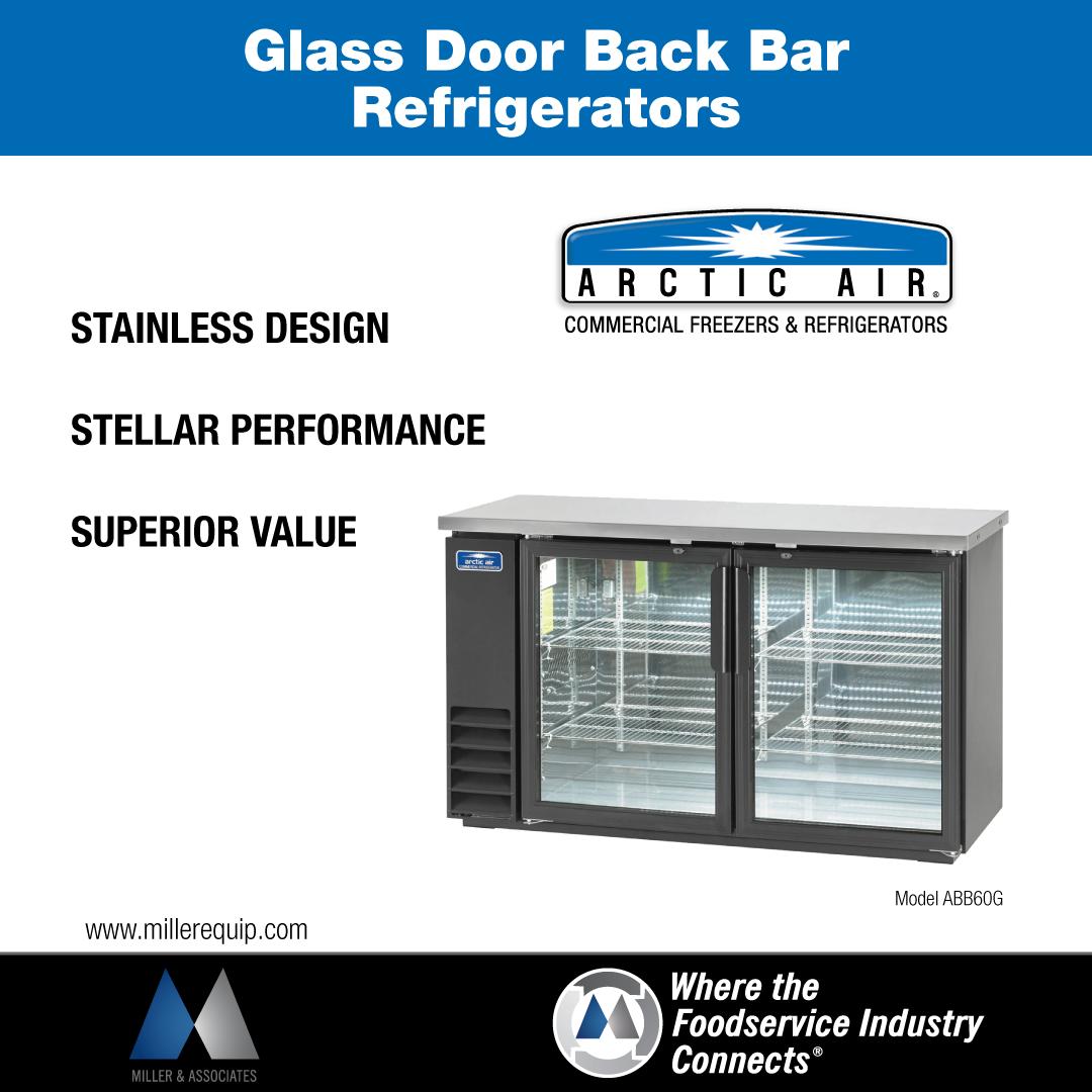 Glass Door Bar Door Refrigerators by Arctic Air.